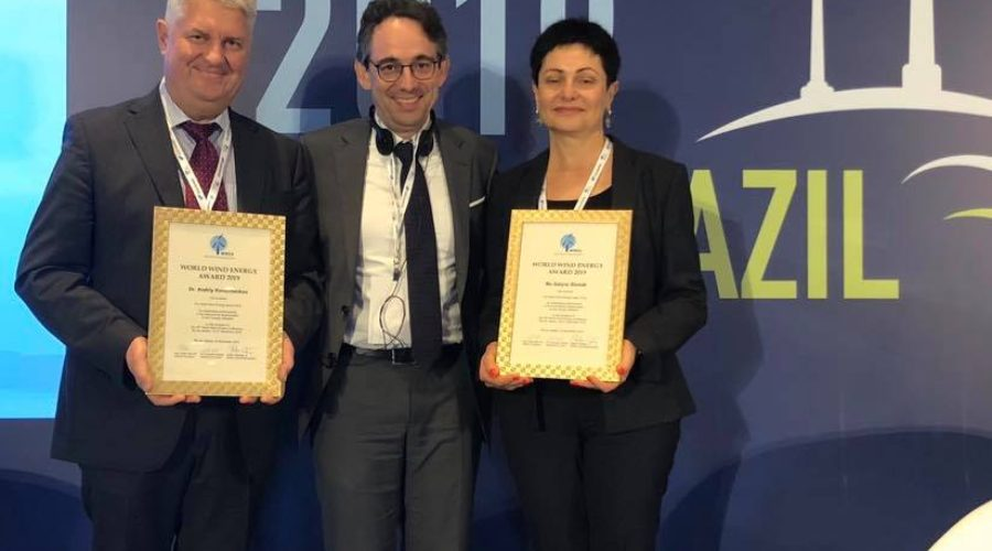 WWEC2019 opened in Rio: World Wind Energy Award 2019 to Andriy Konechenkov and Galyna Shmidt, Honorary Award to Reive Barros and Elbia Gannoum